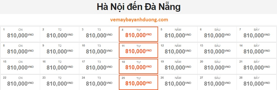 bang gia ve may bay ha noi di da nang thang 4 jetstar