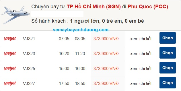 gia ve may bay TPHCM di Phu Quoc gia re