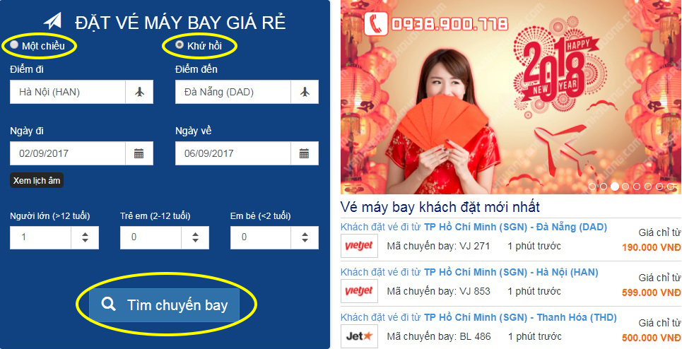 huong dan dat ve may bay gia re buoc 1