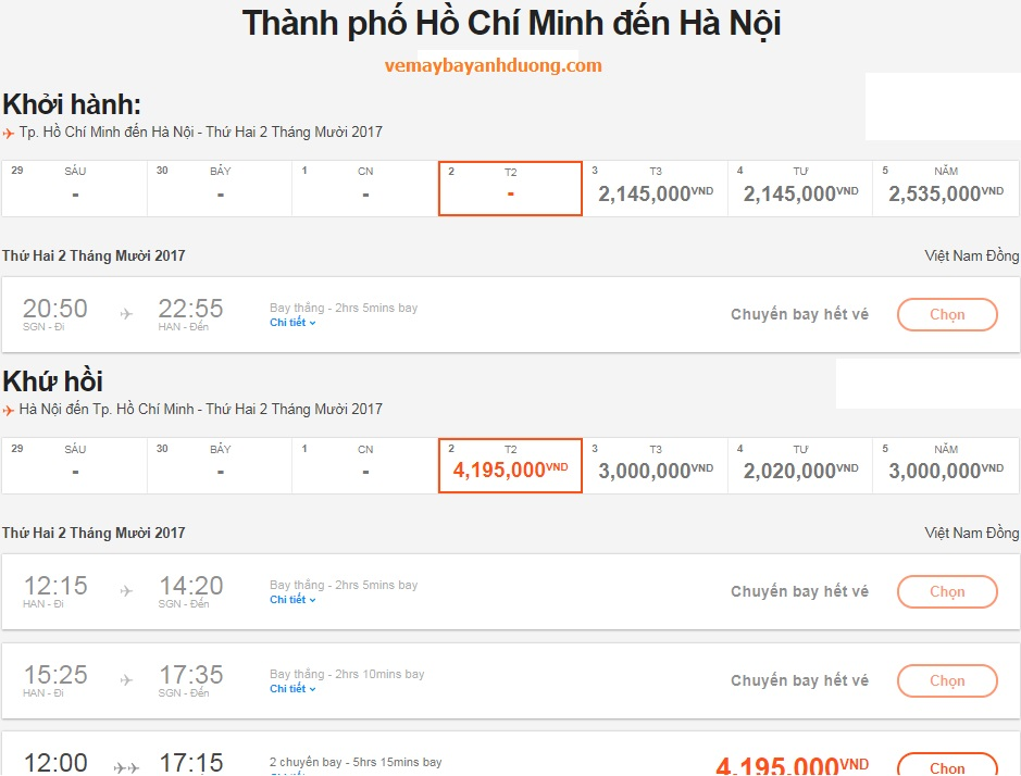 Jetstar het ve may bay tphcm di ha noi